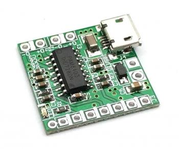 Стерео усилитель мини + microUSB (PAM8403)