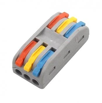 Клемма быстрозажимная WAGO 3pin двустор.