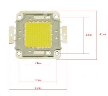 Светодиод белый DC 100Вт
