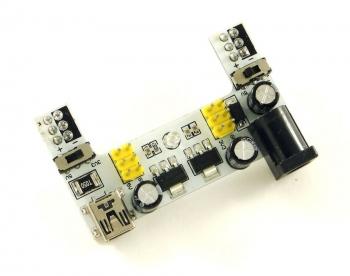 Модуль питания для макетных плат (5.5x2.1 + miniUSB)