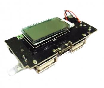 Модуль для PowerBank (2xUSB+LCD)