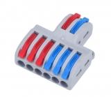 Клемма быстрозажимная WAGO 2pin - 6pin двустор.
