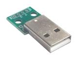 Штекер USB-A на плате